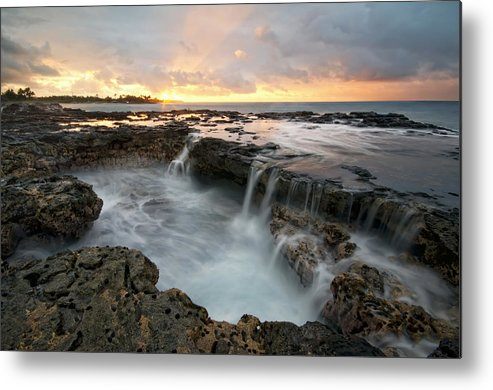 Horizontal Metal Print featuring the photograph Poipu Sunrise by Lee Sie Photography