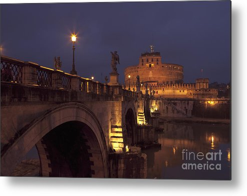 Angelo Metal Print featuring the photograph Ponte And Castel Sant' Angelo At Night by Roberto Morgenthaler