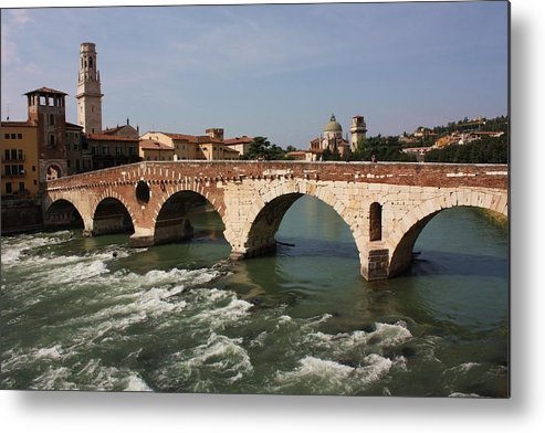 Verona Metal Print featuring the photograph Ponte Pietra by Pat Purdy