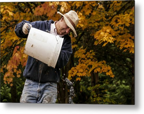 Vineyard Metal Print featuring the photograph Pouring Wine by Jean Noren