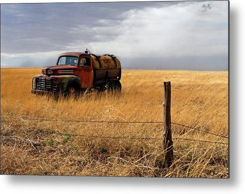 Landscape Metal Print featuring the photograph Prarie Truck by Peter Tellone