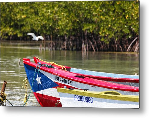 Guanica Metal Print featuring the photograph Puerto Rican Fishing Boats by George Oze