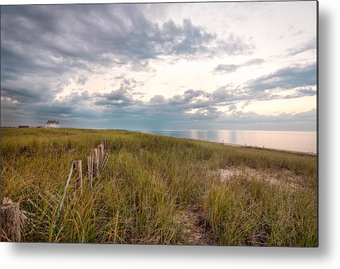 Race Point Metal Print featuring the photograph Race Point At Sunset by Linda Pulvermacher