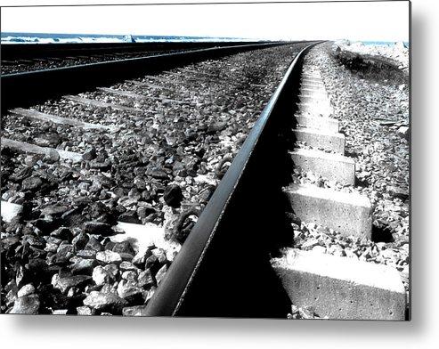 Railroad Metal Print featuring the photograph Railroad Tracks by Joe K --
