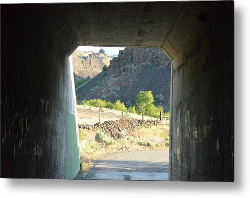 Tunnel Metal Print featuring the photograph Railroad Tunnel by Linda Larson