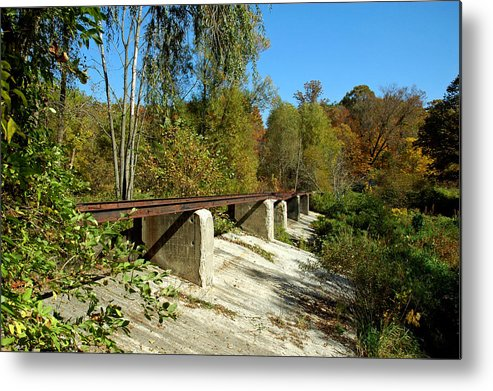 Usa Metal Print featuring the photograph Rails To The Past by LeeAnn McLaneGoetz McLaneGoetzStudioLLCcom