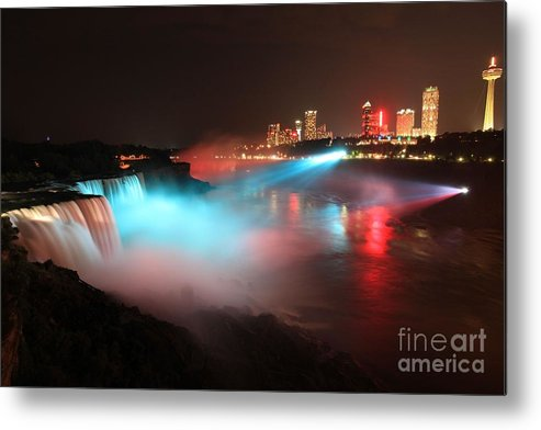 Niagara Falls Metal Print featuring the photograph Rainbow Mist by Adam Jewell
