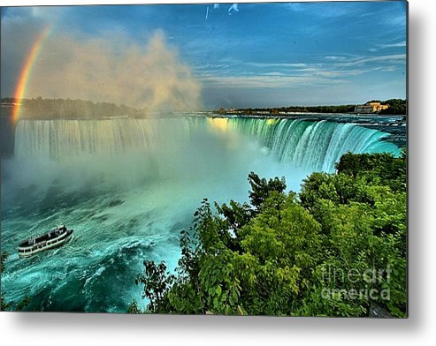 Niagara Falls Metal Print featuring the photograph Rainbow Over The Maid by Adam Jewell