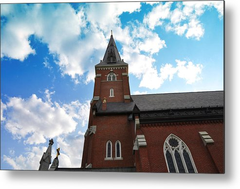 Church Metal Print featuring the photograph Reaching For Glory by Christine Stonebridge