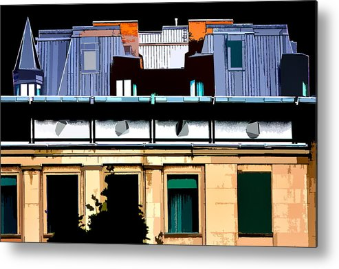 Building Metal Print featuring the photograph Rectangle by Burney Lieberman
