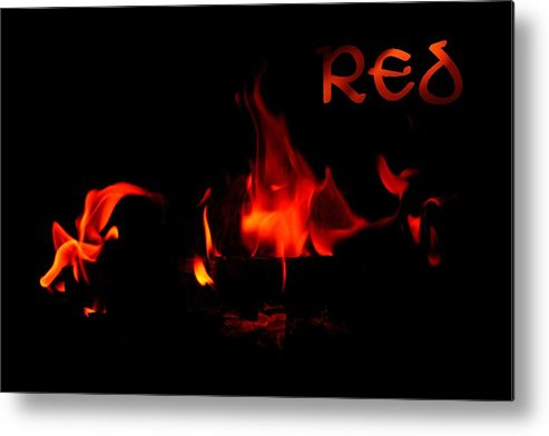 Fire Metal Print featuring the photograph Red by Andreea Marian