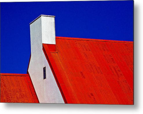 Red Metal Print featuring the photograph Red White And Blue by Burney Lieberman