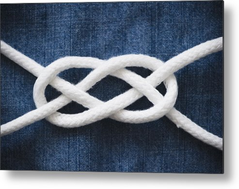 Horizontal Metal Print featuring the photograph Reef Knot by Jamie Grill