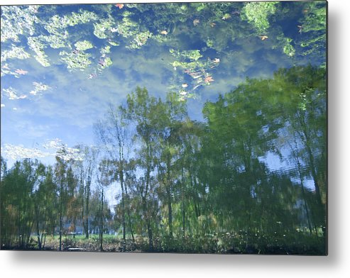 Horizontal Photographs Metal Print featuring the photograph Reflections 3 by Michael Filonow