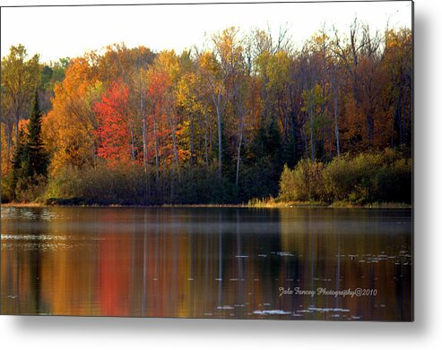Photography Metal Print featuring the photograph Reflections Of Fall by Jale Fancey