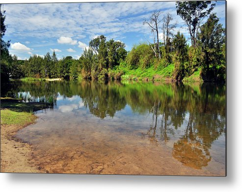 Landscape Metal Print featuring the photograph Reflections by Terry Everson