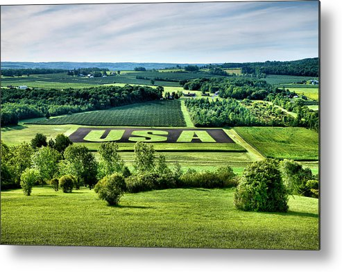 Field Metal Print featuring the photograph Response To September 11 by Steven Ainsworth