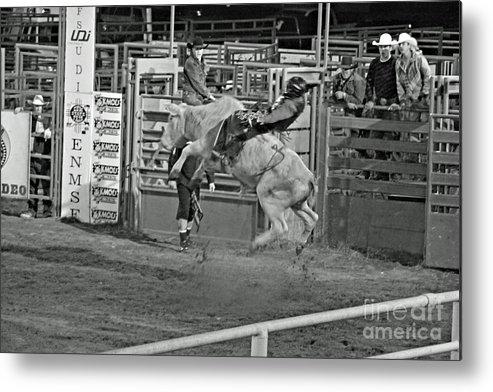Bull Riding Metal Print featuring the photograph Ride 'em Cowboy by Shawn Naranjo