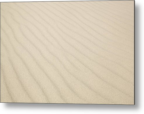Horizontal Metal Print featuring the photograph Ripples In Sand Dunes by Sidsel Clement