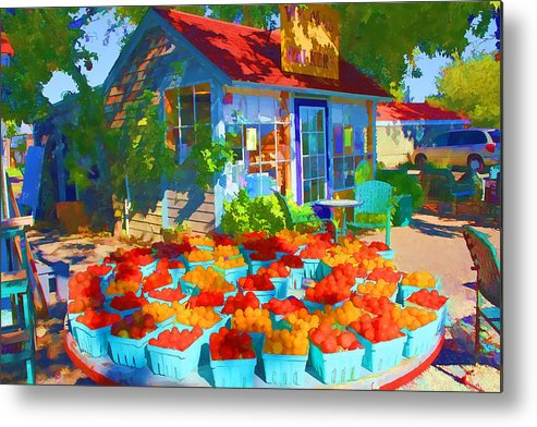 Metal Print featuring the photograph Roadside Market by Don Fleming
