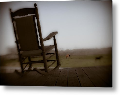 Rocking Chair Metal Print featuring the photograph Rocking Chair Dreams by Paul Roach