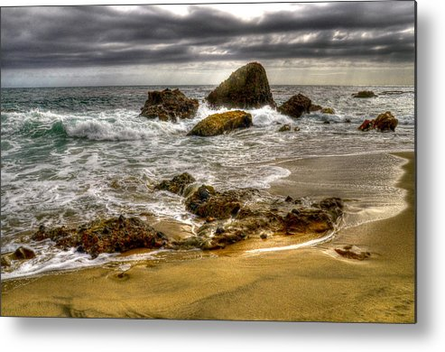 Beach Metal Print featuring the photograph Rocky Shore by Craig Incardone