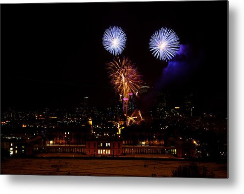 Greenwich Metal Print featuring the photograph Royal Greenwich Fireworks by Dawn OConnor
