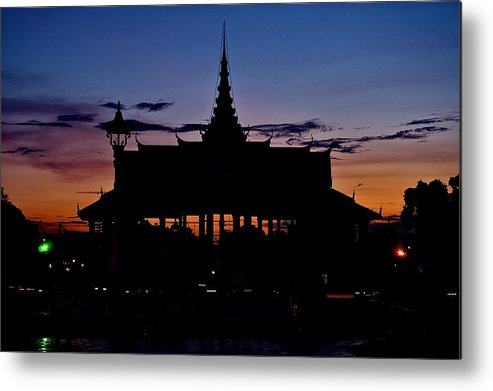 Cambodia Metal Print featuring the photograph Royal Palace by Arj Munoz