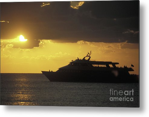 Mexico Metal Print featuring the photograph Sailing Into The Sun Cozumel Mexico by John Mitchell