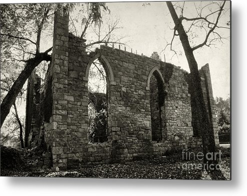 Ruins Metal Print featuring the photograph Saint Johns Chapel Two by Susan Isakson