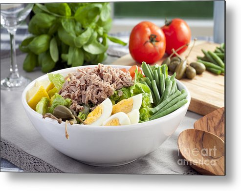 Appetizer Metal Print featuring the photograph Salad Nicoise by Charlotte Lake