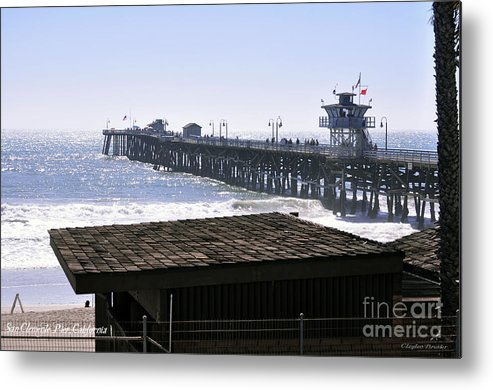 Clay Metal Print featuring the photograph San Clemente Pier California by Clayton Bruster