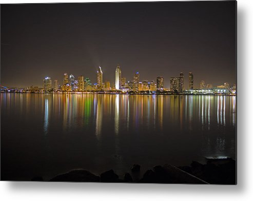 City Metal Print featuring the photograph San Diego by Benjamin Street