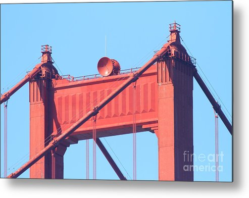 San Francisco Metal Print featuring the photograph San Francisco Golden Gate Bridge . 7d7805 by Wingsdomain Art and Photography