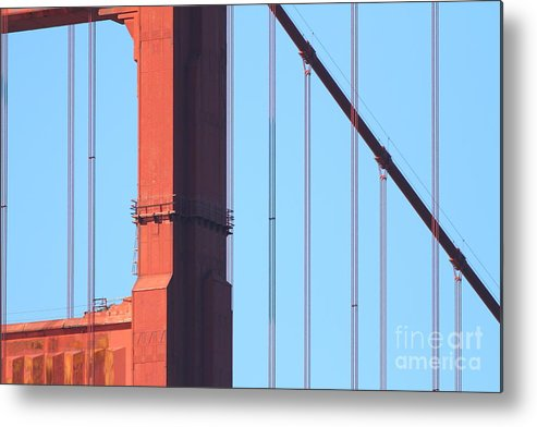 San Francisco Metal Print featuring the photograph San Francisco Golden Gate Bridge . 7d7954 by Wingsdomain Art and Photography