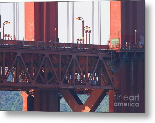San Francisco Metal Print featuring the photograph San Francisco Golden Gate Bridge . 7d8115 by Wingsdomain Art and Photography