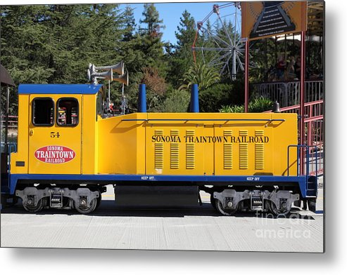 Sonoma Metal Print featuring the photograph Scale Locomotive - Traintown Sonoma California - 5d19237 by Wingsdomain Art and Photography
