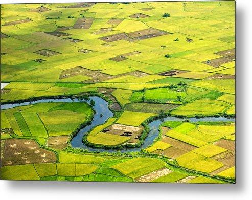 Horizontal Metal Print featuring the photograph Season Grain by By Hoang Hai Thinh