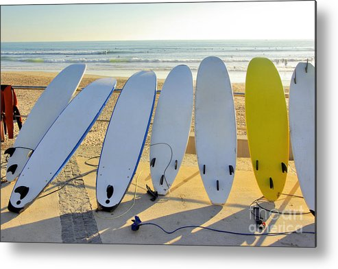 Activity Metal Print featuring the photograph Seven Surfboards by Carlos Caetano