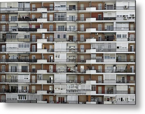 Horizontal Metal Print featuring the photograph Several Buildings Housing by Fotografía de juandevillalba