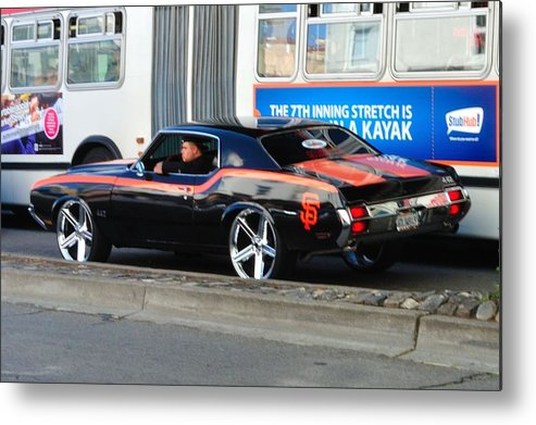Metal Print featuring the photograph Sf Giants Muscle Car by Mychele White