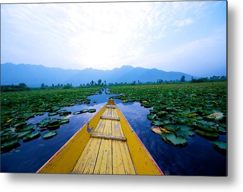 Horizontal Metal Print featuring the photograph Shikara Ride At Srinagar by Clicked By Aalok