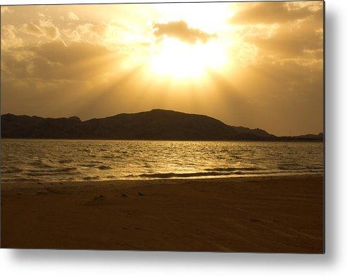 Sun Set Metal Print featuring the photograph Shining Light by Jon Stacey