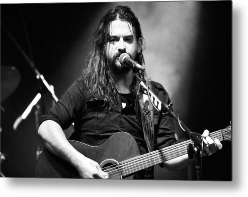 Shooter Metal Print featuring the photograph Shooter Jennings - Country Mark by Elizabeth Hart