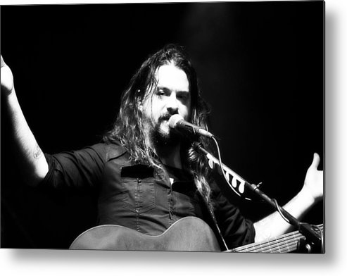 Shooter Metal Print featuring the photograph Shooter Jennings - Tell Ya' What Ya' Need To Do by Elizabeth Hart