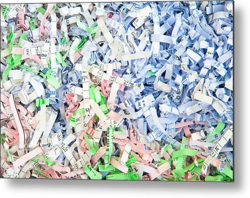 Abundance Metal Print featuring the photograph Shredded Paper by Tom Gowanlock