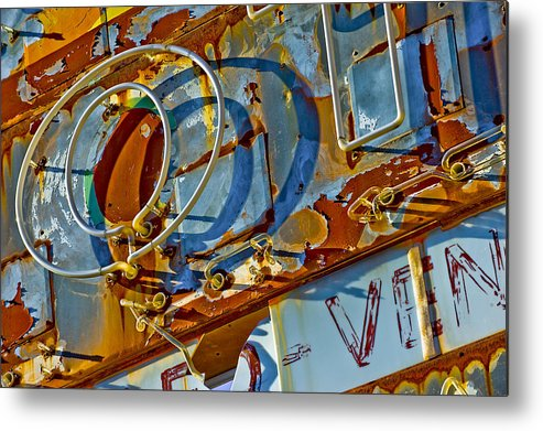 Still Life Metal Print featuring the photograph Signage.8247 by Gary LaComa