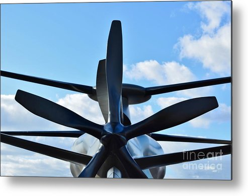 Model Metal Print featuring the photograph Sikorsky X2 Demonstrator Model by Lynda Dawson-Youngclaus