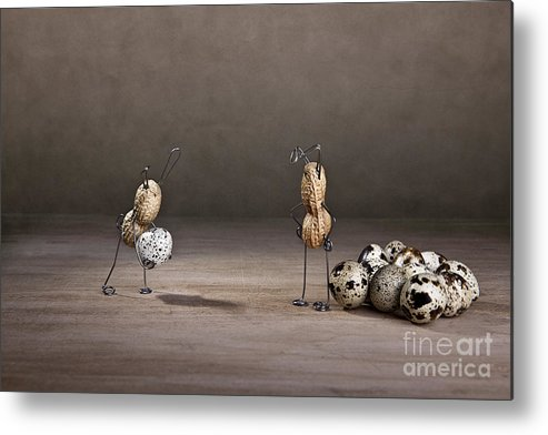 Easter Metal Print featuring the photograph Simple Things Easter 09 by Nailia Schwarz