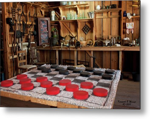 Checkers Metal Print featuring the photograph Simpler Times by Ken Merop